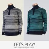 [마운틴가이드]겨울용 기능성 남성 등산티셔츠/집업 니트 골프티셔츠 ELM-T7436