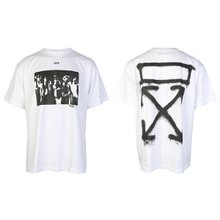 [오프화이트]20SS OMAA038R20185015 0110 스프레이 페인팅 티셔츠 오버핏 화이트