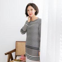 마담4060 엄마옷 3선플리츠티셔츠 QTE902061