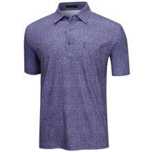 [파파브로]남성 여름 국산 패턴 스판 반팔 카라티셔츠 LM-H9-261-네이비