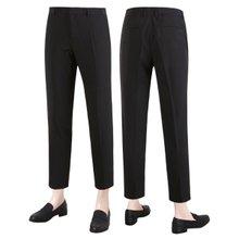 [파파브로]남성 여름 캐주얼 스판 바지 8부 슬랙스 팬츠 LO-C50-블랙
