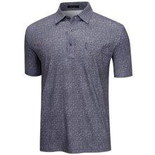 [파파브로]남성 여름 국산 패턴 스판 반팔 카라티셔츠 LM-H9-262-차콜