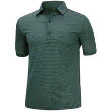 [파파브로]남성 여름 스트라이프 반팔 스판 카라 티셔츠 HL-H9-723-그린