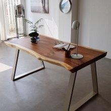 우드인미 소나무통원목 투톤 식탁테이블1500-ap/책상테이블/우드슬랩