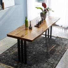 우드인미 통원목 에코 원목식탁 테이블 2000_w700_New/원목책상/우드슬랩/카페테이블