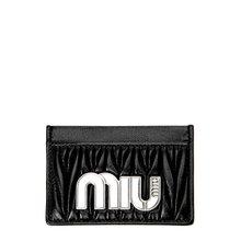 [미우미우] (5MC208 2B4Q NERO) 여성 카드지갑 18FW