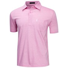 [파파브로]남성 국산 여름 줄무늬 반팔 면 카라티셔츠 LM-H9-862-핑크