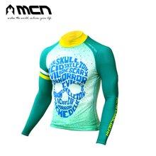 [MCN] 해골 그린 멀티이너웨어/자전거상의/자전거의류