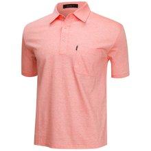 [파파브로]남성 국산 여름 줄무늬 반팔 면 카라티셔츠 LM-H9-863-오렌지