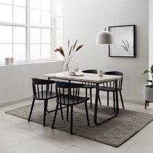브로슈 4인 마블 대리석 식탁세트(의자형)