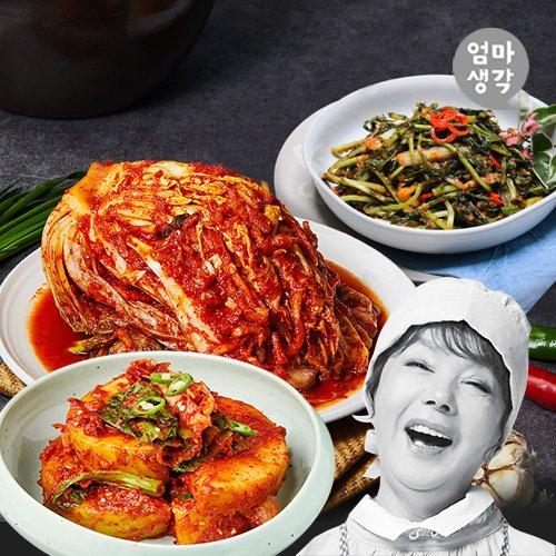[김수미]엄마생각 포기김치7kg+열무김치2kg+갓석박지2kg