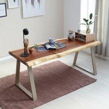 우드인미 소나무통원목 투톤 책상테이블1800-ap/식탁테이블/우드슬랩