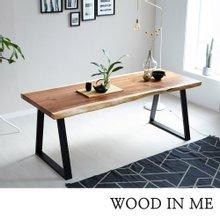 우드인미 소나무통원목 투톤 식탁테이블2000-ap/책상테이블/우드슬랩