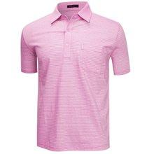 [파파브로]남성 국산 여름 줄무늬 반팔 면 카라티셔츠 LM-H9-908-핑크