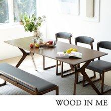 우드인미 애쉬원목 6인용 원목식탁 세트 1800B/의자포함/물푸레나무/에쉬목/우드슬랩식탁