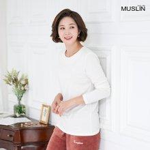 엄마옷 모슬린 소프트 기모 라운드 티셔츠 TS910388
