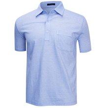 [파파브로]남성 국산 여름 줄무늬 반팔 면 카라티셔츠 LM-H9-909-블루