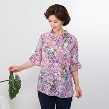 마담4060 엄마옷 지짐이꽃블라우스 QBL907050