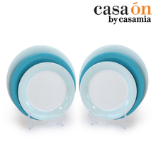 [까사미아까사온]더본블루마인 접시(대)2p+접시(중)2p+접시(소)2p 6구성