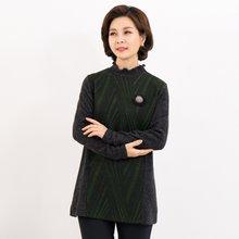 마담4060 엄마옷 밍크배색티셔츠-ZTE912078-