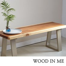 우드인미 소나무통원목 투톤 벤치의자 1150-ap/식탁의자/원목의자