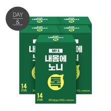[무료배송2+1] 데이앤 내몸에 노니스틱분말 14포x5박스(70포)