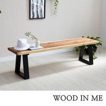우드인미 소나무통원목 투톤 벤치의자 1400-ap/식탁의자/원목의자