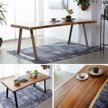해찬솔 꼬우꼬통원목 서재 책상테이블 1800-ah/식탁테이블/보르네오월넛 우드슬랩