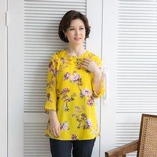 마담4060 엄마옷 꽃송이나염블라우스 QBL904059