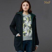 NnF 여성 알파카 패딩 니트 코트