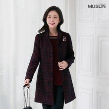 엄마옷 모슬린 하이넥 누빔 라인 자켓 JK911004