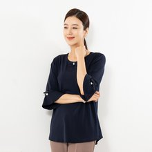 마담4060 엄마옷 뒷면주름티셔츠 QTE908012