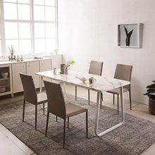 브로슈 6인 마블 대리석 식탁세트(의자4개)-