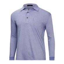 [파파브로]남성 국산 기본 긴팔 카라 면 티셔츠 LM-A9-111-퍼플