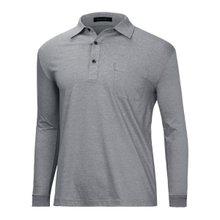 [파파브로]남성 국산 기본 긴팔 카라 면 티셔츠 LM-A9-113-블랙