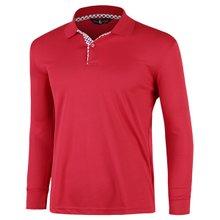 [파파브로]남성 국산 긴팔 체크 카라 티셔츠 LM-A9-L99-PK-레드
