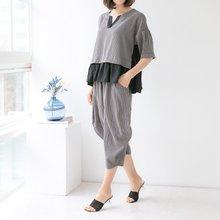마담4060 엄마옷 너무편한줄지세트 QSET905003