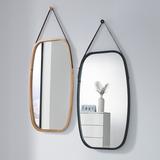 원목 벽걸이 거울 직사각