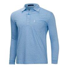 [파파브로]남성 국산 스트라이프 카라 면 티셔츠 LM-A9-211-블루