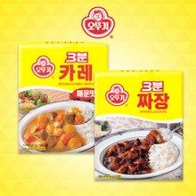 [오뚜기] 3분 카레 매운맛 12팩 + 3분 짜장 12팩 (팩당200g)