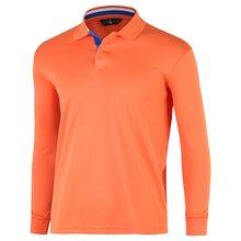 [파파브로]남성 국산 긴팔 두줄 카라 티셔츠 LM-A9-L99-WF-오렌지