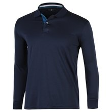 [파파브로]남성 국산 긴팔 두줄 카라 티셔츠 LM-A9-L99-WF-진네이비