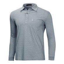 [파파브로]남성 국산 스트라이프 카라 면 티셔츠 LM-A9-213-그레이