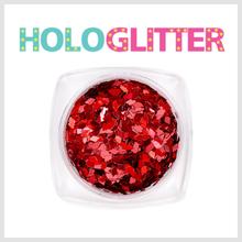 엘리카 홀로글리터 다이아2mm(레드) -H118-