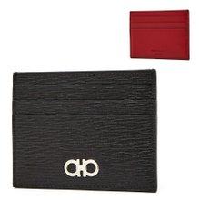 [페라가모] 더블 간치니 66 A302 NERO 0698914 공용 명함/카드지갑