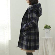 [웬디즈갤러리]누스 체크 후드 코트 PCT010