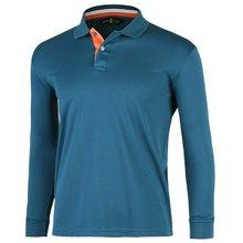 [파파브로]남성 국산 긴팔 두줄 카라 티셔츠 LM-A9-L99-WF-청록