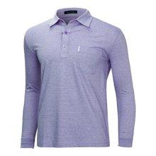 [파파브로]남성 국산 스트라이프 카라 면 티셔츠 LM-A9-214-퍼플
