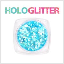 엘리카 홀로글리터 육각1mm(오팔블루) -H128-