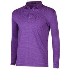 [파파브로]남성 국산 줄무늬 스판 카라 티셔츠 LM-A9-204-퍼플